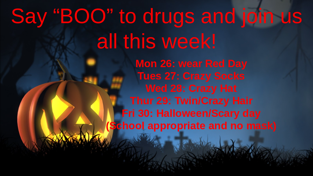 Red Ribbon Week 2020  Spirit schedule