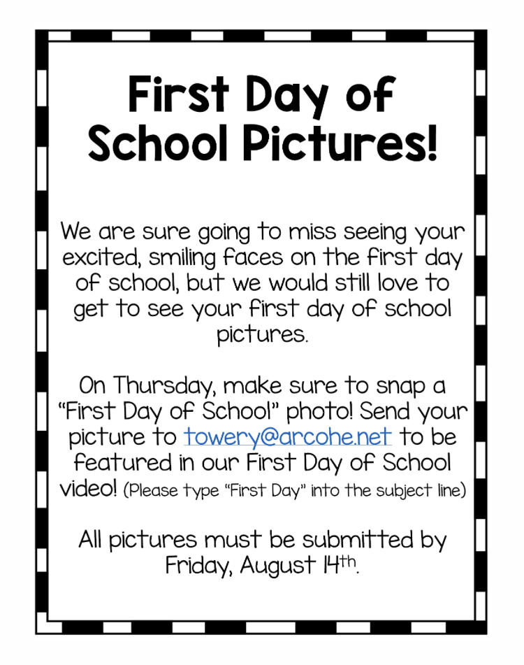 First Day of School Video Flyer